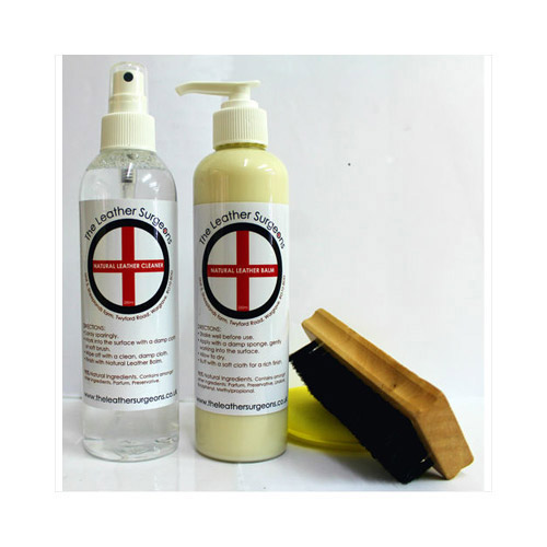 Leather care and repair kit