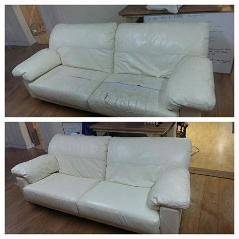 Restores sofa from wrecked to great
