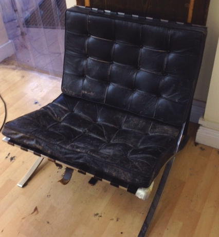 The Chair arrived with 60 years of wear and tear!