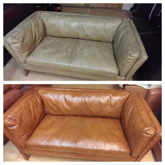 Sun Bleached Aniline Sofa The Leather Surgeons