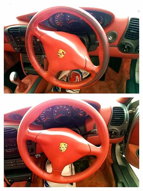 Porsche Boxster Red Steering Wheel
