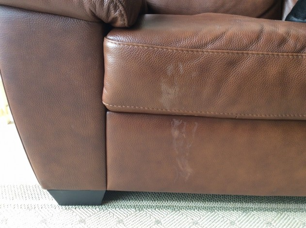 Damage can be repaired by our Professional leather finishers