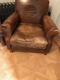 replacing leather to club chair