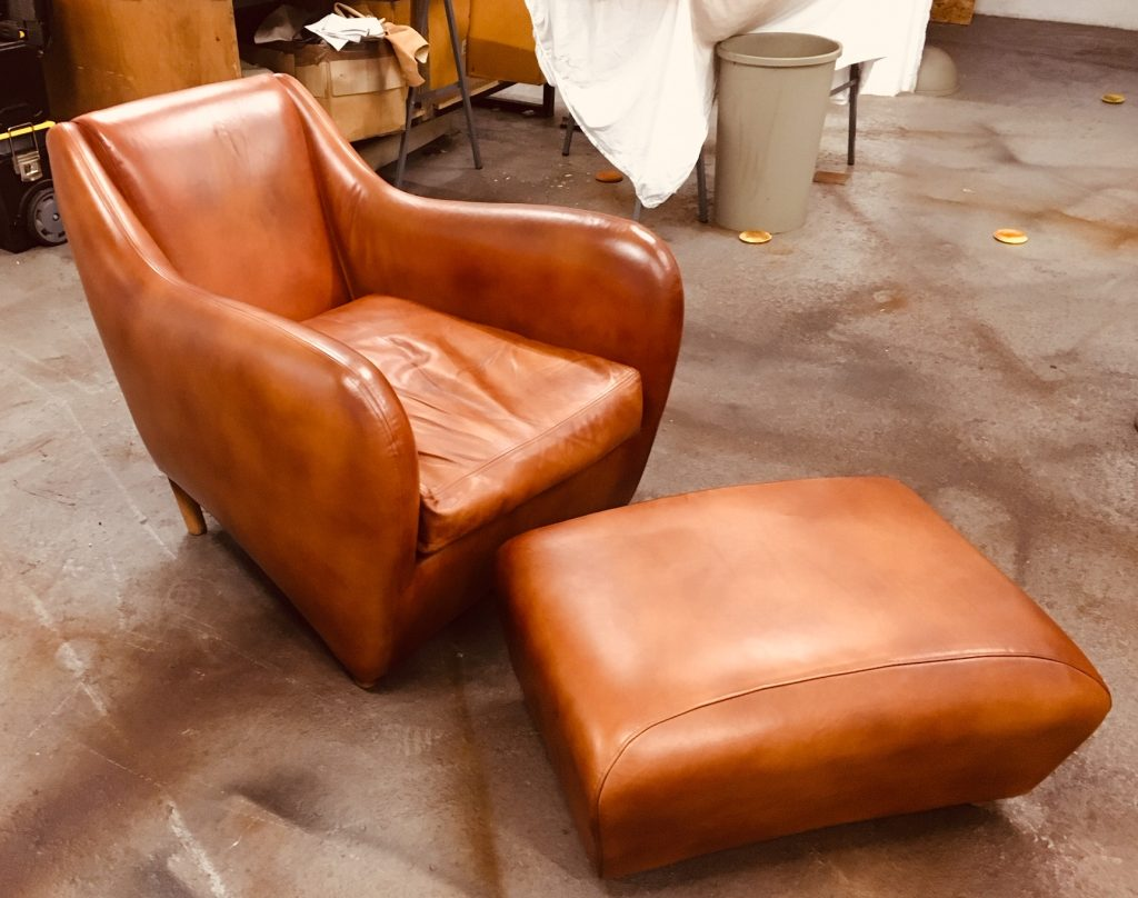 Balzac chair staining removed and restored.