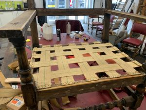 Antique dining chairs upholstery, start at the beginning