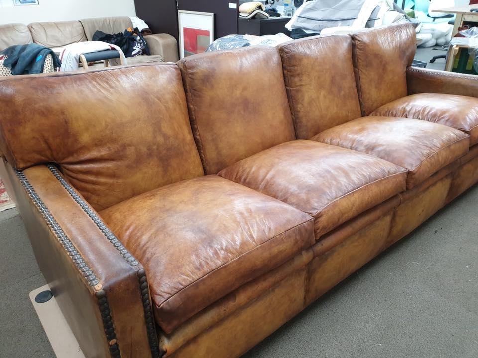 repairing antique leather sofa